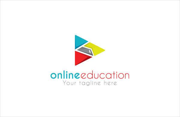 Online Education Logo Design Template