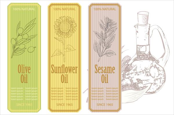 Organic Oil Labels Design