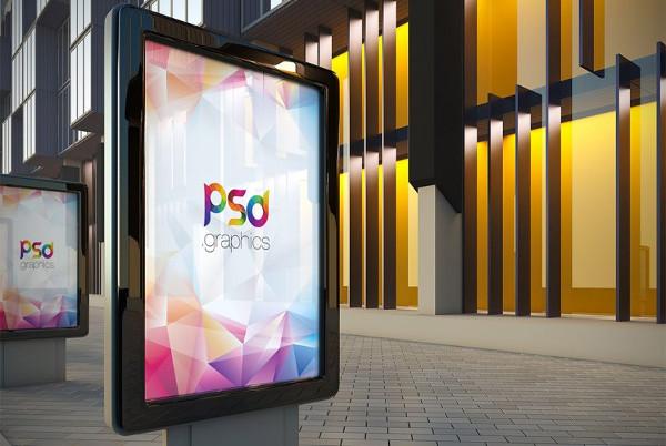 Outdoor Billboard Advertising Mock-Up Free PSD