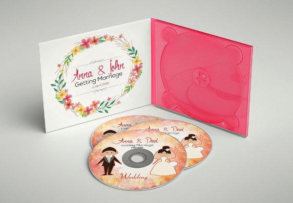 PSD Wedding CD Mockups