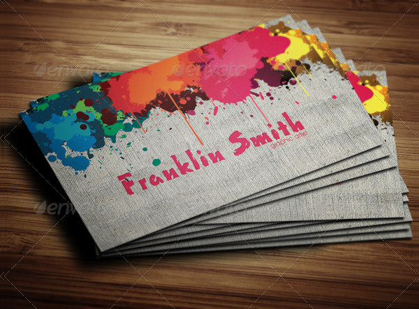 Graphic Paint Artist Business Card Template