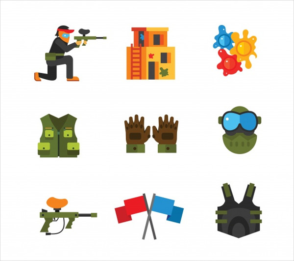Paintball Icon Collection Free