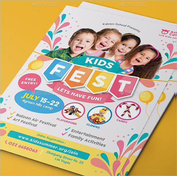 Kids Festival Party Flyer