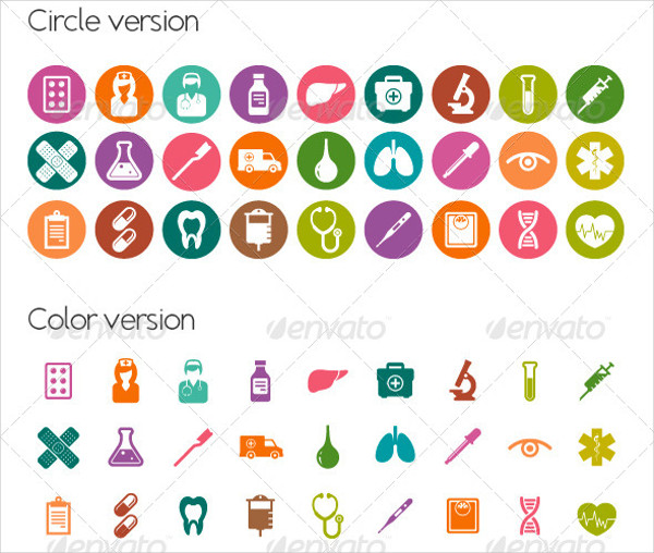 Medical Color Version Icons