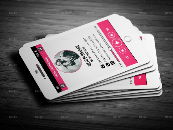 Print Ready Music Player Business Card