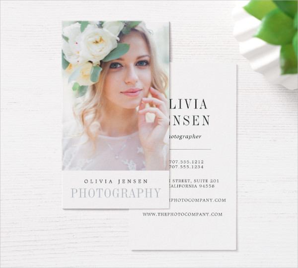 Photographer Vertical Business Cards