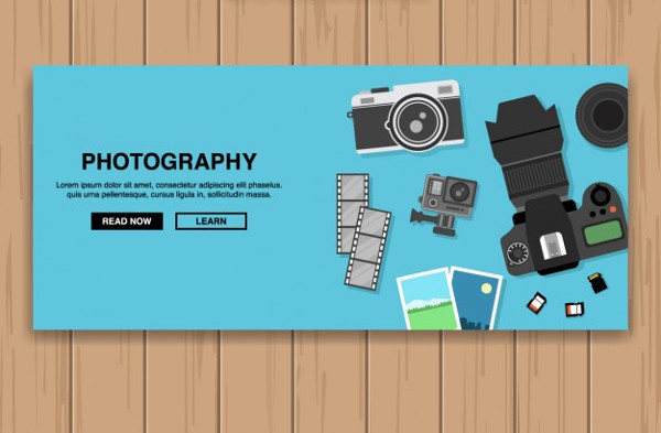 Photography Banner Design Free Vector