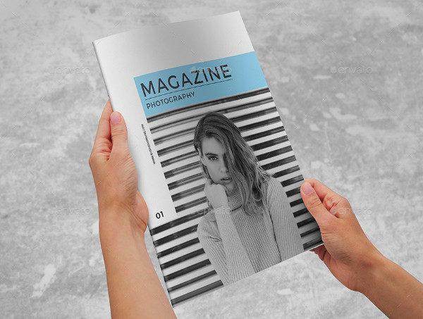 Simple Photography Portfolio Magazine Template