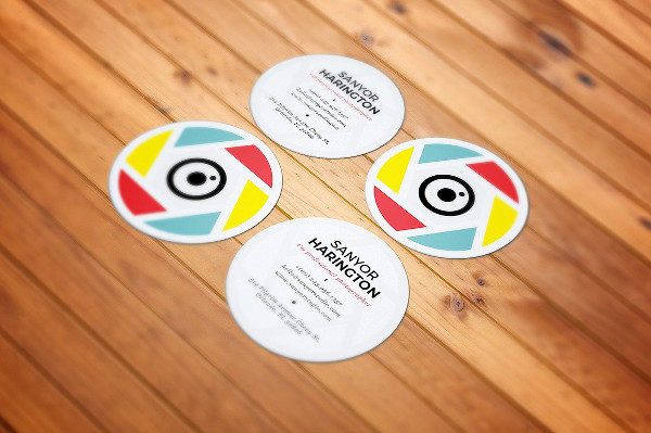 Photography Round Business Card Template