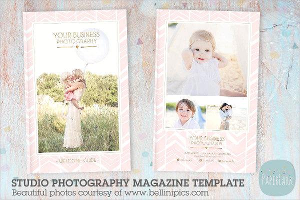 Beautiful Photography Studio Magazine Template