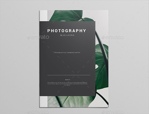 Unique Magazine Template for Photography Business