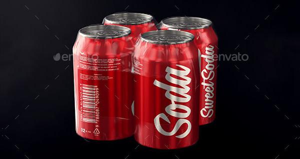 Photorealistic Aluminum Soda Can Mock-Ups