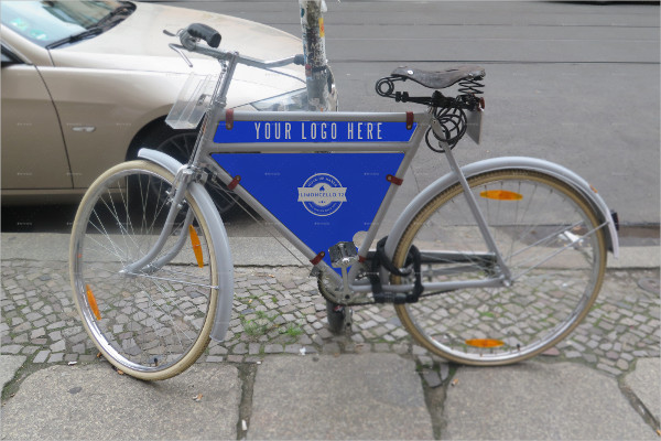 Photorealistic Bike Advertising Mock-Up