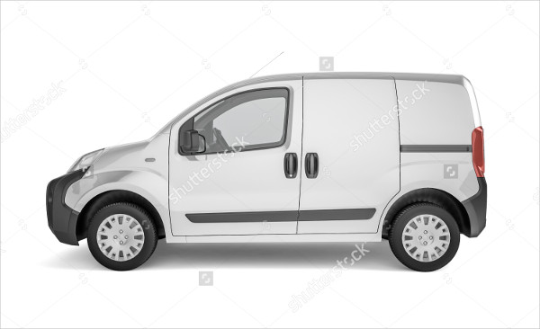 Pickup Car on White Background Mock-Up
