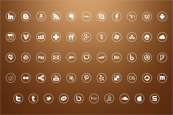 54 Vector Icons for Social Media