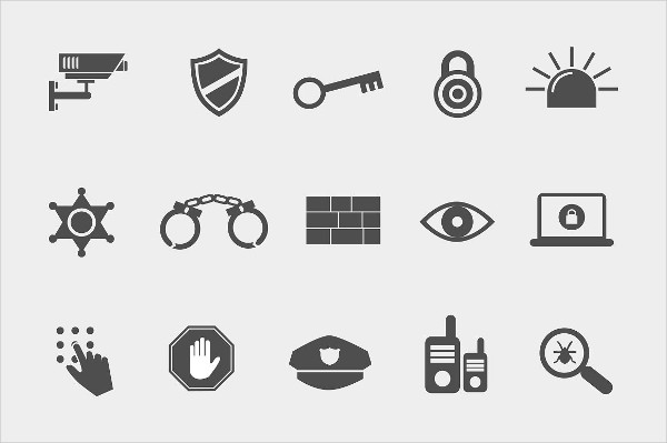Stylish Icons for Security Theme