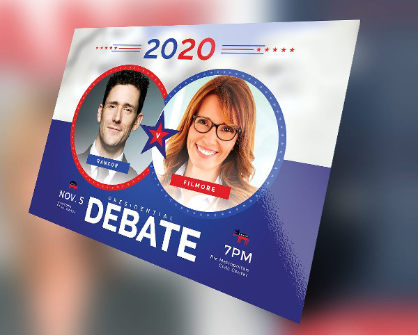 Political Debate Flyer Design