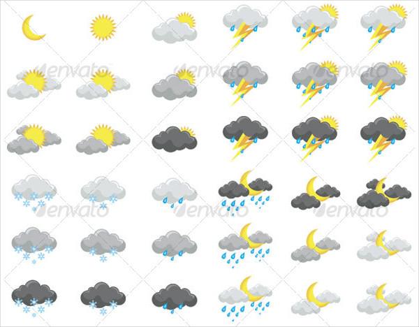 Popular Weather Illustrator Icons