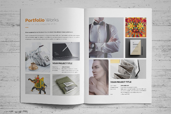 Modern Portfolio InDesign Brochure Template