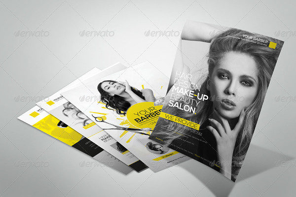 Premium Hair Salon Advertising Flyer Template
