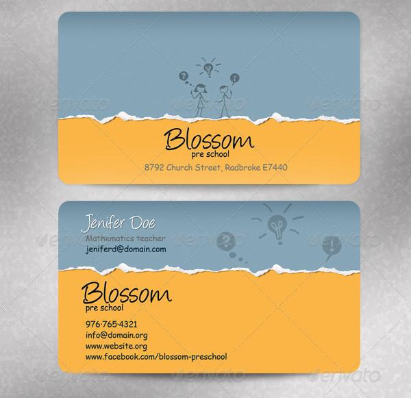 Pre-School Business Cards
