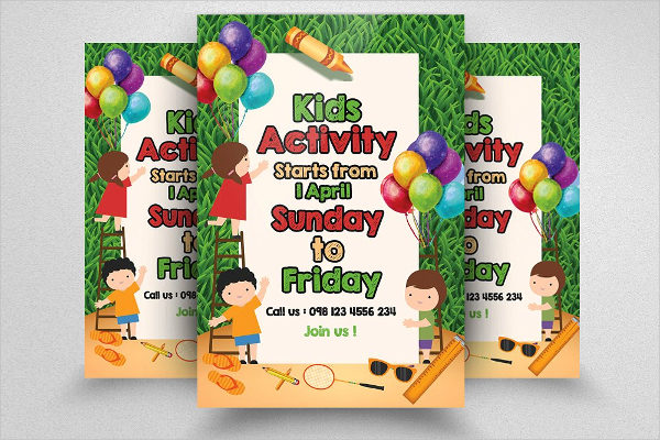 Print Ready Kids Activity Flyer Templates