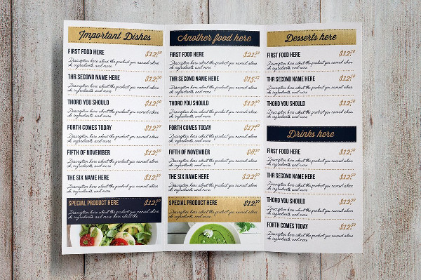 Print Ready Restaurant Food Menu Template