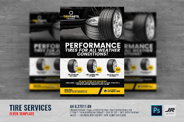 Print Ready Tire Service Flyer Template