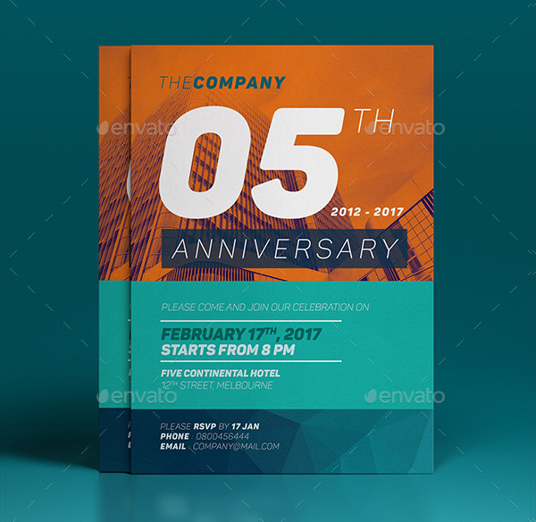 Printable Anniversary Invitation Template