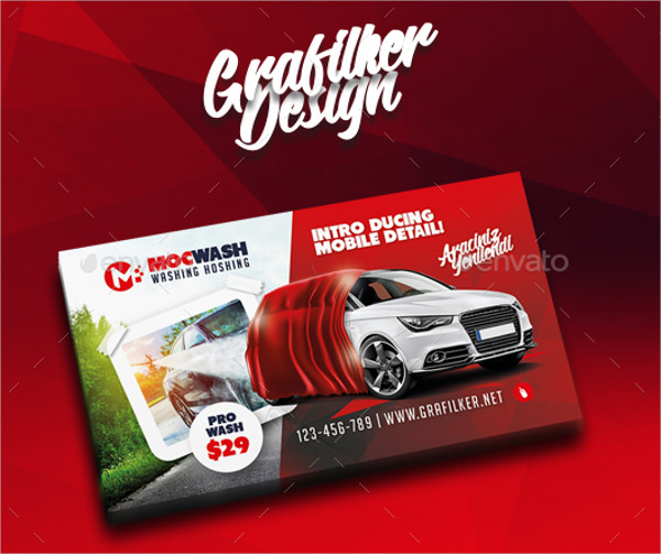 Professional Auto Detailing Business Cards