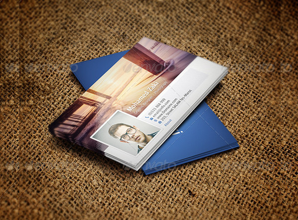 Professional Facebook Business card