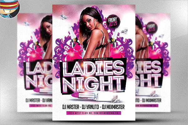 Professional Ladies Night Party Flyer Templates