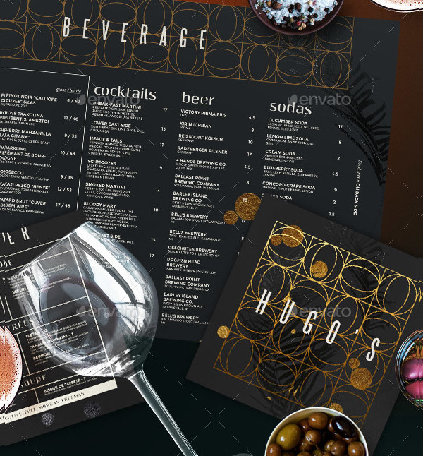 Professional Restaurant Menu Template