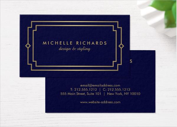 Vintage Art Deco Business Card Template