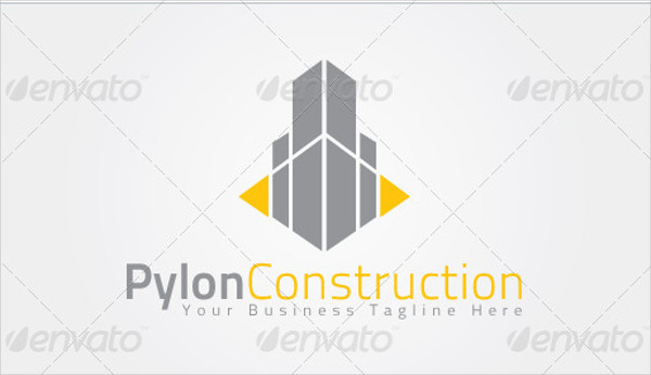 Pylon Construction Logo Template