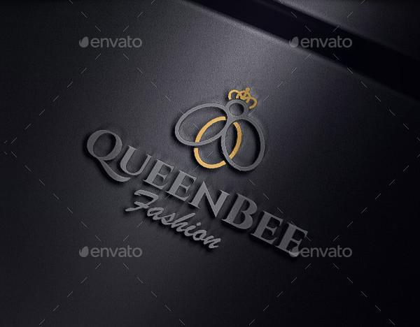 Queen Bee Fashion Logo Template