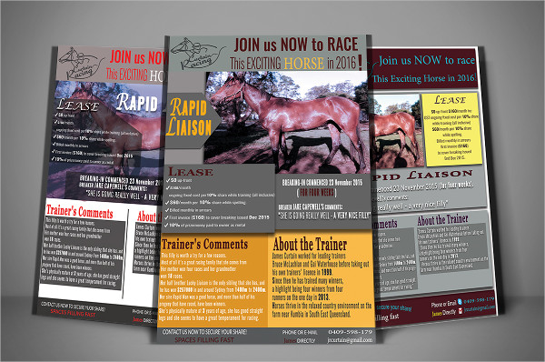 Racing Horse Design Flyer Template