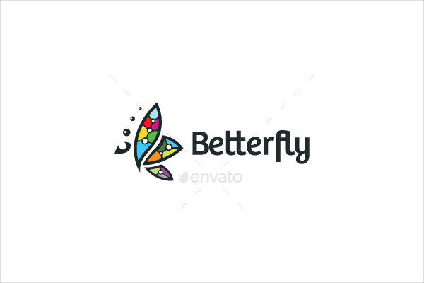 Rainbow Butterfly Logo