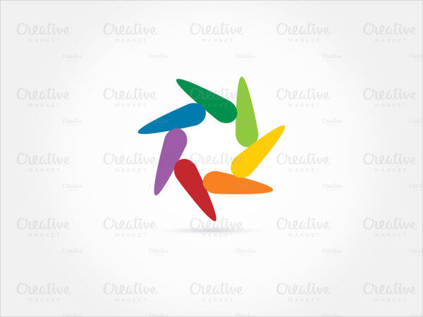 Rainbow Circle Colored Logo