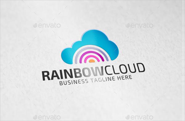 Rainbow Cloud Logo Template