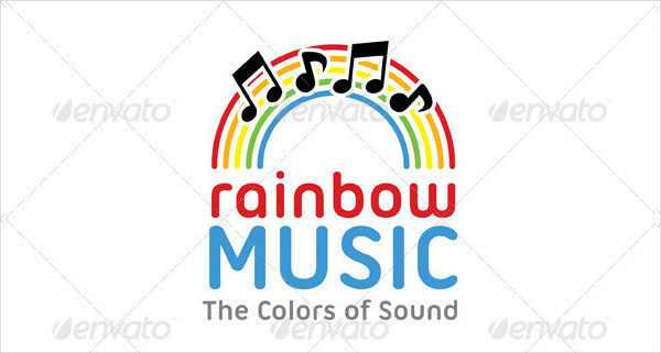Rainbow Music Logo Template