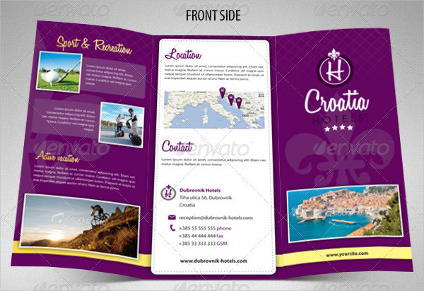 Ready to Print Hotel Trifold Brochure Template