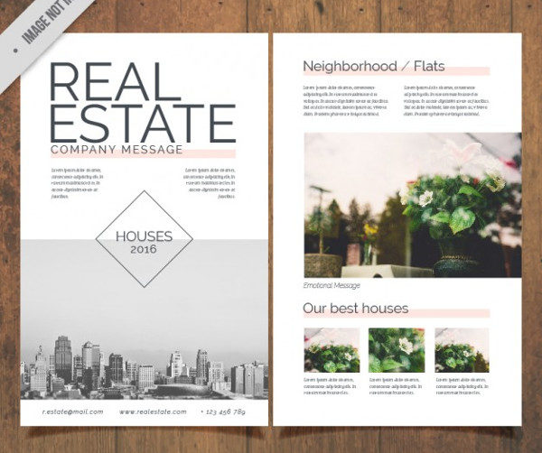 Real Estate Flyer with Pictures Free Download