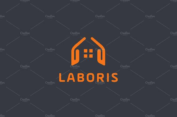 Real Estate House Hands Design Logo