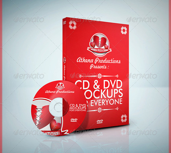 Realistic CD or DVD Mockups