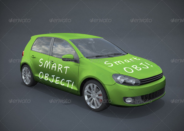 Realistic Car Mockup