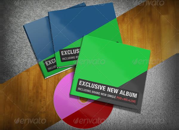 Realistic Digipak CD Mock-Up