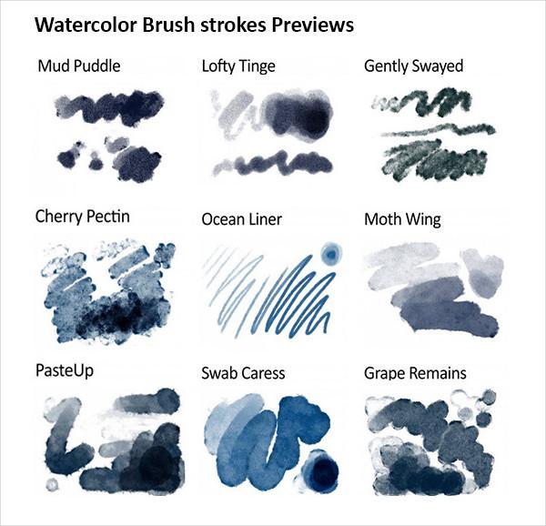 Realistic Responsive Watercolor Brush Pack