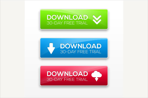 Isolated Rectangle Download Buttons