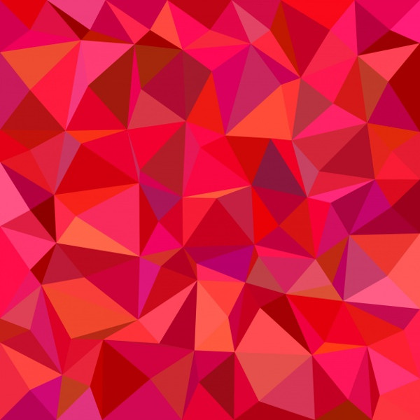 Red Mosaic Background Free